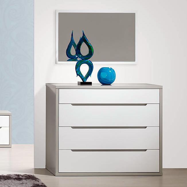 Espelho LOURINI Viena Cinza/Branco