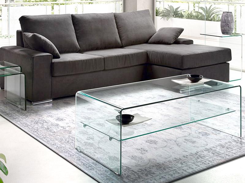 Mesa de centro camino a casa transparente com prateleira polim vel loja de m veis e sof s em - Sofas camino a casa ...