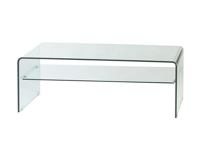 Mesa de centro camino a casa transparente com prateleira polim vel loja de m veis e sof s em - Mesa centro transparente ...