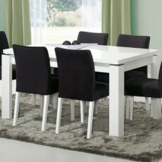 Mesa de Jantar LOURINI Baviera Branco