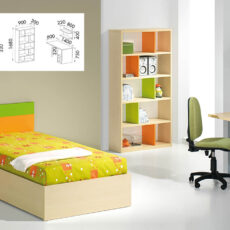 Quarto Juvenil LOURINI Kids 3 Maple