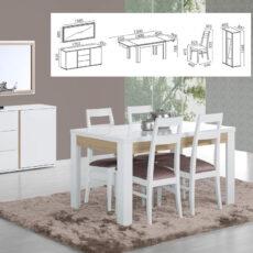 Sala de Jantar LOURINI Chiado Branco Carvalho